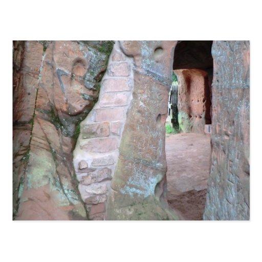 Casas de la roca del borde de Kinver Tarjeta Postal