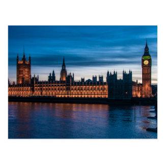 Casas del parlamento y de Big Ben, Londres, Postal