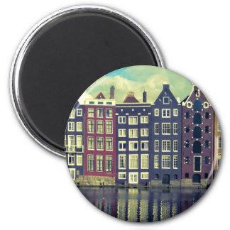 Casas del vintage de Holanda Imán