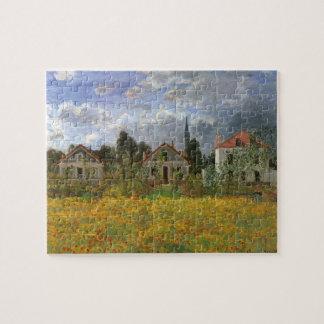 Casas en Argenteuil de Claude Monet, arte del Puzzle