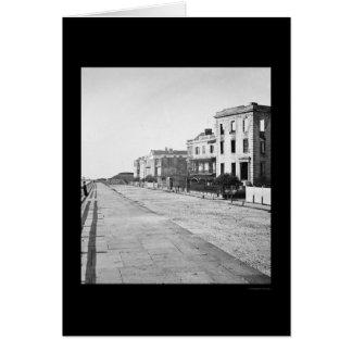 Casas en la batería en Charleston, SC 1865 Tarjeta