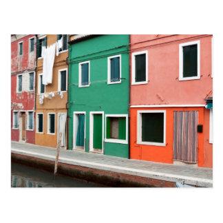 Casas en la costa postal