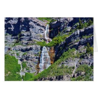 Cascada #1 - tarjeta de Utah de felicitación