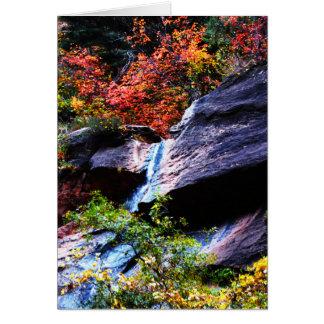 Cascada 2 del otoño que el subterráneo Zion NP Tarjeta