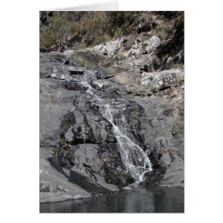 Cascada #2 tarjeta de felicitación