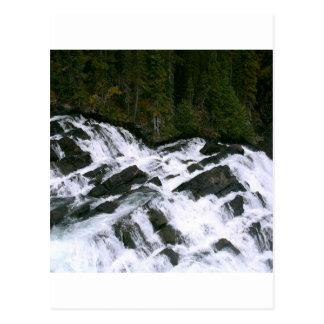 Cascada antes de las caídas tarjetas postales