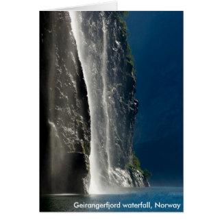 Cascada de Geirangerfjord, Noruega Tarjetas