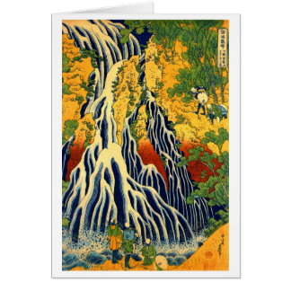 Cascada de Kirifuri en el soporte Kurokami en Tarjeta Pequeña