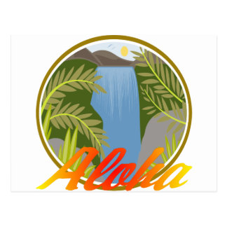 Cascada de la hawaiana postal