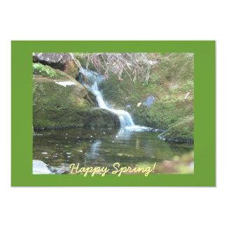 Cascada de la primavera invitación 12,7 x 17,8 cm