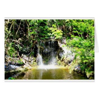 Cascada de Sunreflected Tarjeta De Felicitación
