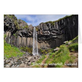 Cascada de Svartifoss, Islandia Felicitacion