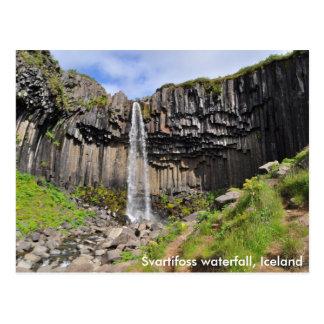 Cascada de Svartifoss, Islandia Tarjetas Postales