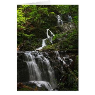 Cascada del este de Berkshires de la montaña de la Tarjeta De Felicitación