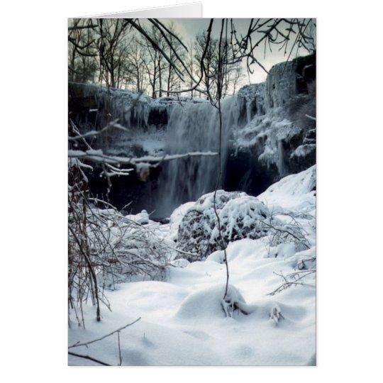 Cascada del invierno, tarjeta