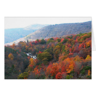 Cascada del otoño tarjeta de felicitación