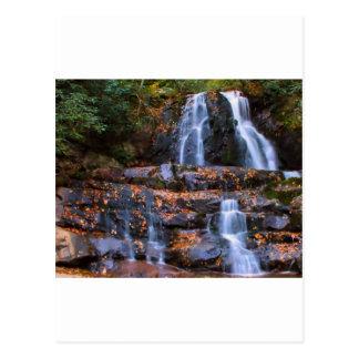 Cascada del otoño postal