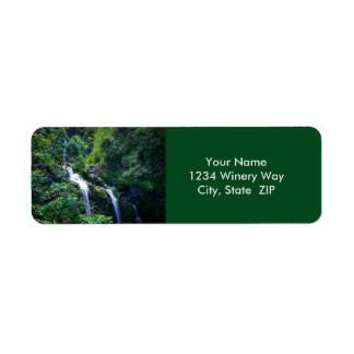 Cascada en Maui Hawaii Etiquetas De Remite