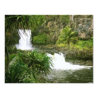 Cascada hawaiana 2 con gradas invitacion personal