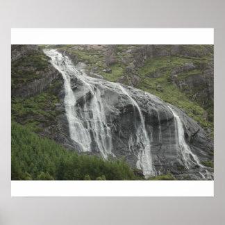 Cascada irlandesa póster