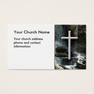 Cascadas con la tarjeta de visita cristiana