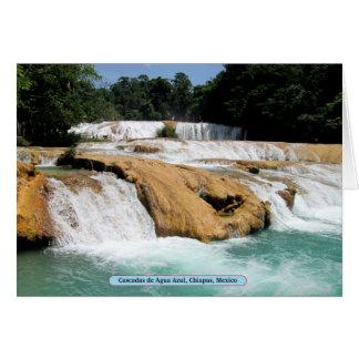 Cascadas de Agua Azul, Chiapas, México Tarjetas