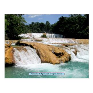 Cascadas de Agua Azul, Chiapas, México Tarjetas Postales