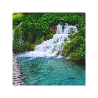 Cascadas en el parque nacional de Plitvice en Impresión En Lienzo