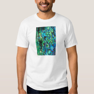 Cáscara azulverde del olmo del paua camiseta