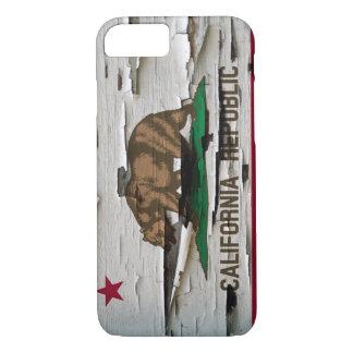 Cáscara de la pintura de la bandera de California Funda iPhone 7