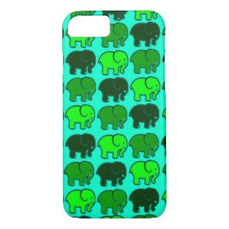 cáscara verde del iPhone 7 de los elefantes Funda iPhone 7