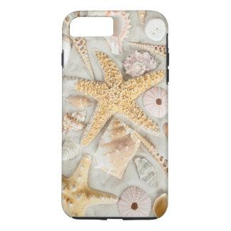 Cáscaras del mar de las estrellas de mar funda iPhone 7 plus