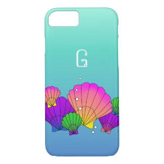 Cáscaras del mar del Caribe con las burbujas Funda iPhone 7