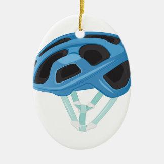 Casco de la bicicleta adorno navideño ovalado de cerámica