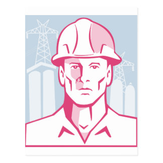 Casco de protección del trabajador del ingeniero postal