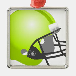 Casco del deporte adorno navideño cuadrado de metal