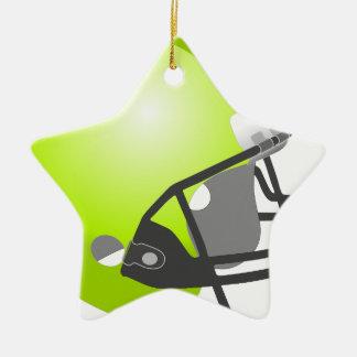 Casco del deporte adorno navideño de cerámica en forma de estrella