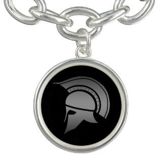 Casco espartano del griego clásico pulseras con dijer