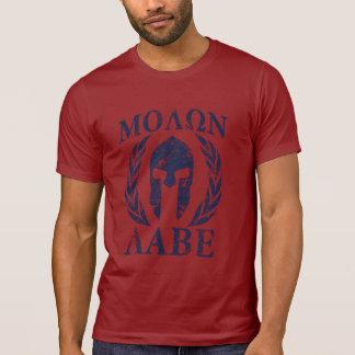 Casco espartano del Grunge de Molon Labe Camiseta