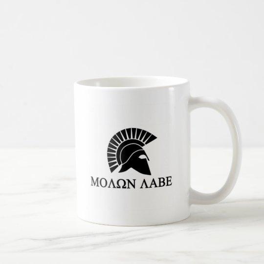 Casco espartano Molon Labe Taza De Café