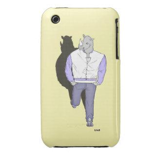 "Casco I-fonio 3G ""z' animo"", el Rinoceronte Case-Mate iPhone 3 Fundas"