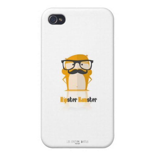 Casco Iphone 4 Hipster Hámster iPhone 4 Carcasas