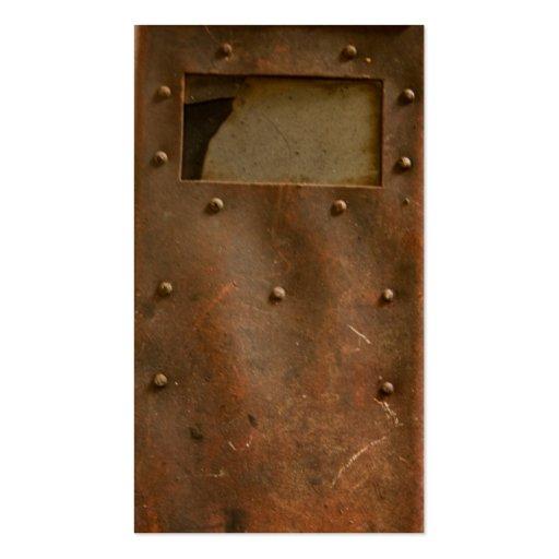 Casco oxidado de la soldadura tarjetas de visita