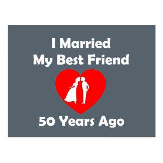 Casé a mi mejor amigo hace 50 años postal