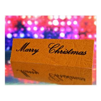 Case el navidad escrito en la tarjeta postal