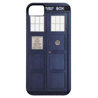 "CASE iPhone 5 ""POLICE BOX "" Funda Para iPhone SE/5/5s"