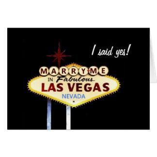¡Cáseme en Las Vegas, dije sí! Tarjeta