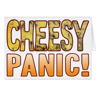 Caseoso azul del pánico tarjeta de felicitación