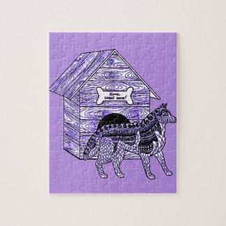 Caseta de perro puzzle