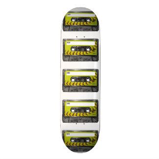 Casete amarillo de la etiqueta del softball patín personalizado
